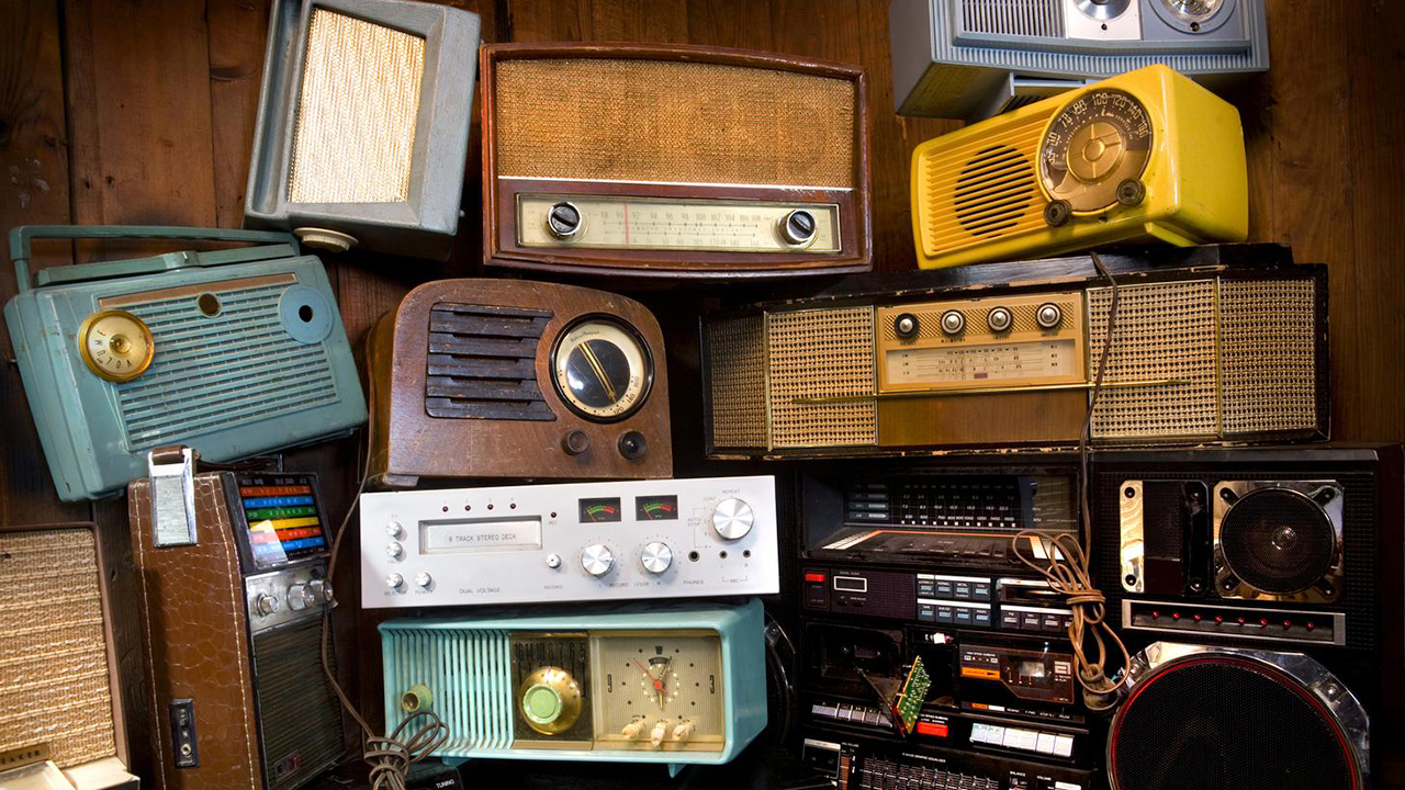Image showing a number of old fashioned radios