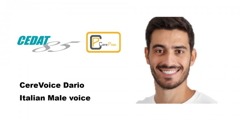 Immagine che mostra il volto di un giovane uomo che impersona la voce dell'assistente digitale
