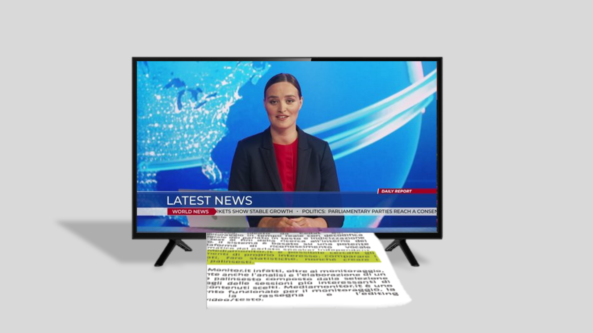 Image showing a network news anchor