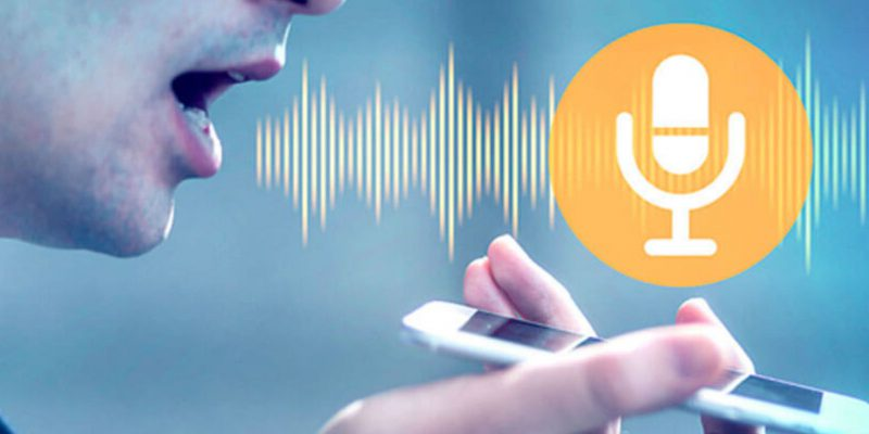 Immagine che mostra le onde sonore emesse da un uomo che parla