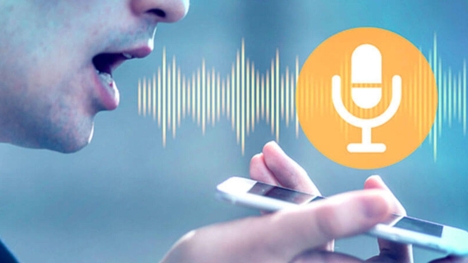Image showing a speaking man emitting sound waves